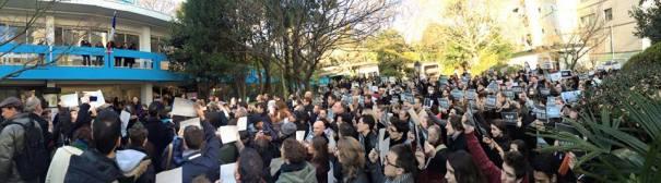 Rassemblement républicain du 11 janvier à Tokyo. Crédits photo : Philippe Stouvenot – Transprofil